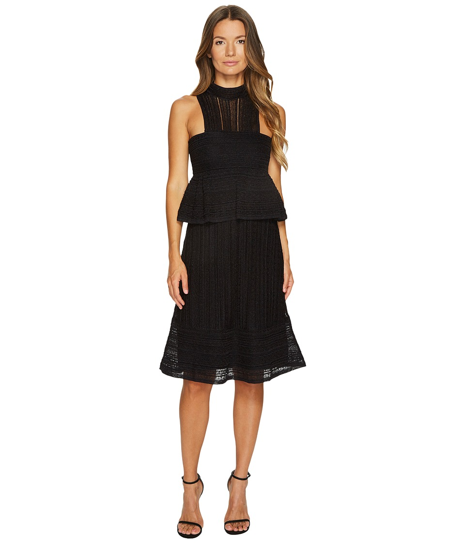 M Missoni Solid Lurex Lace Dress (Black) Women