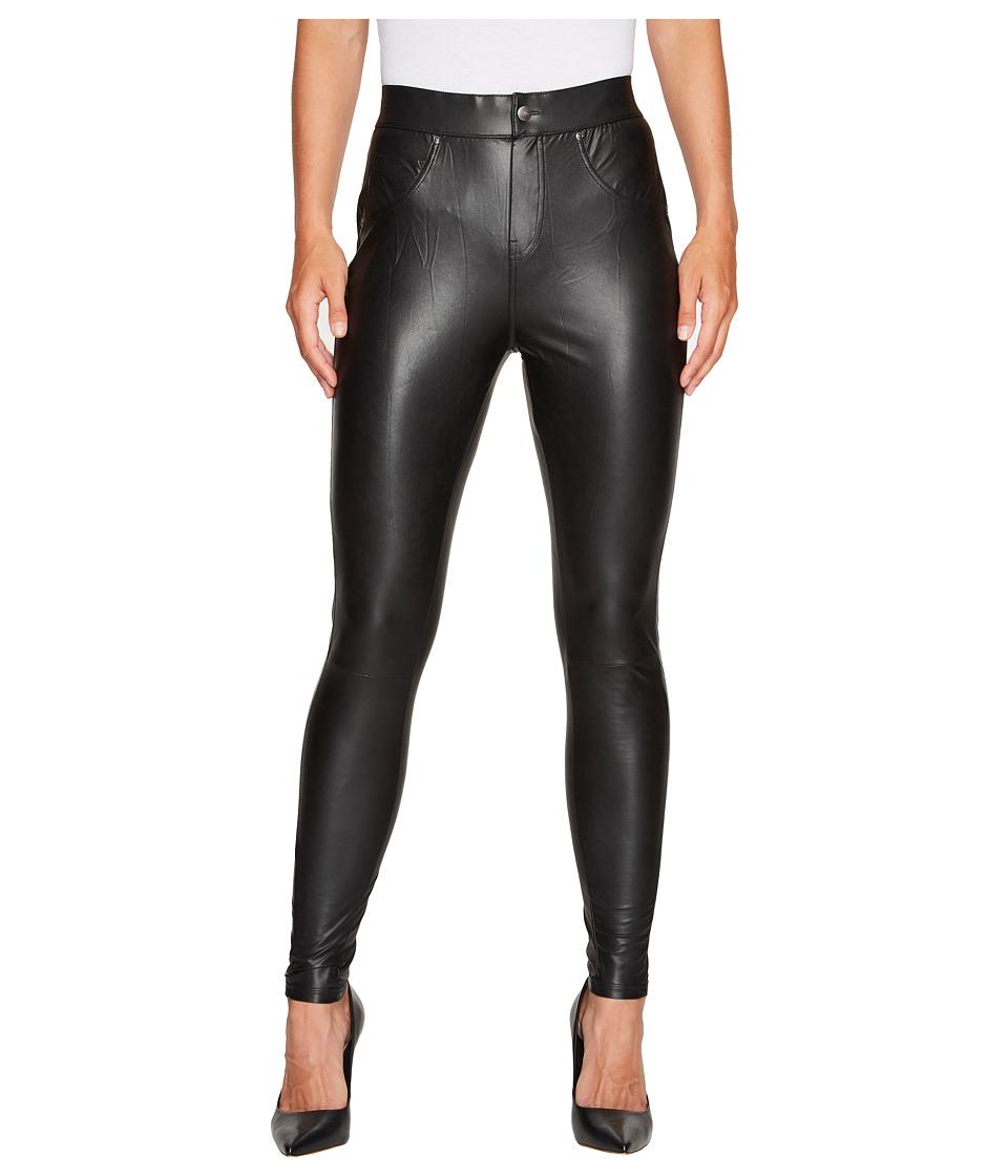 HUE Leatherette Curvy Leggings (Black) Women