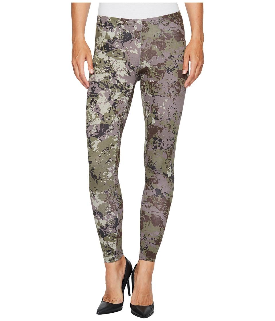 HUE Camo Cotton Leggings (Green) Women