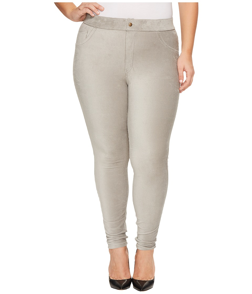 HUE Plus Size Corduroy Leggings (Wild Dove) Women's Casua...