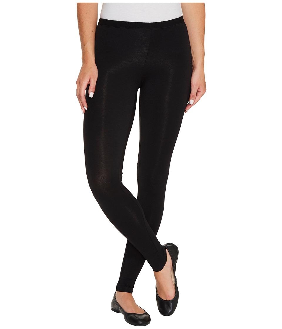 HUE Pima Cotton Leggings (Black) Women