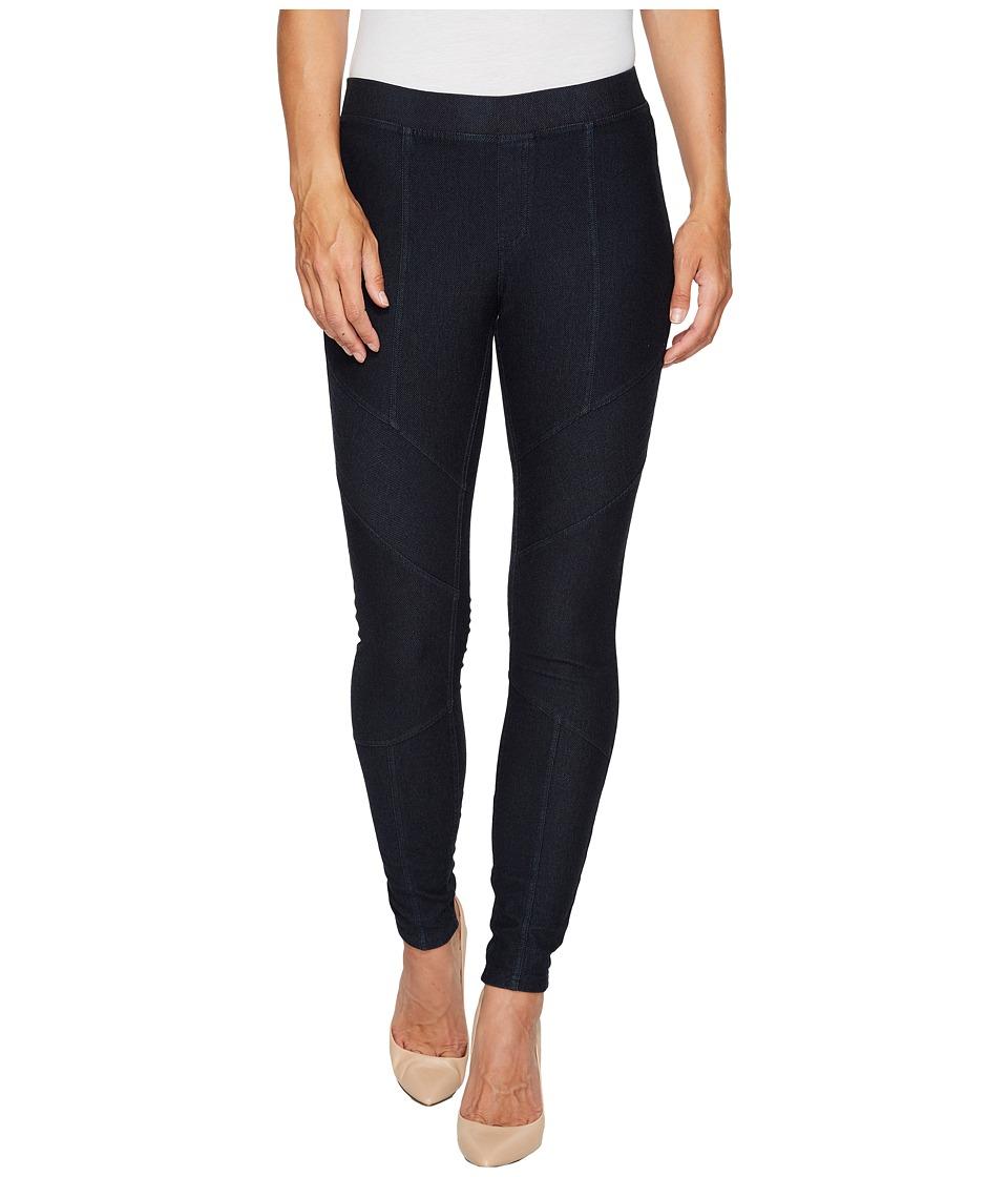 HUE Moto Essential Denim Leggings (Midnight Rinse) Women