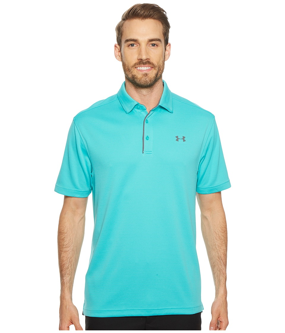 Under Armour Golf - Tech Polo (Teal Punch/Rhino Gray) Mens Clothing
