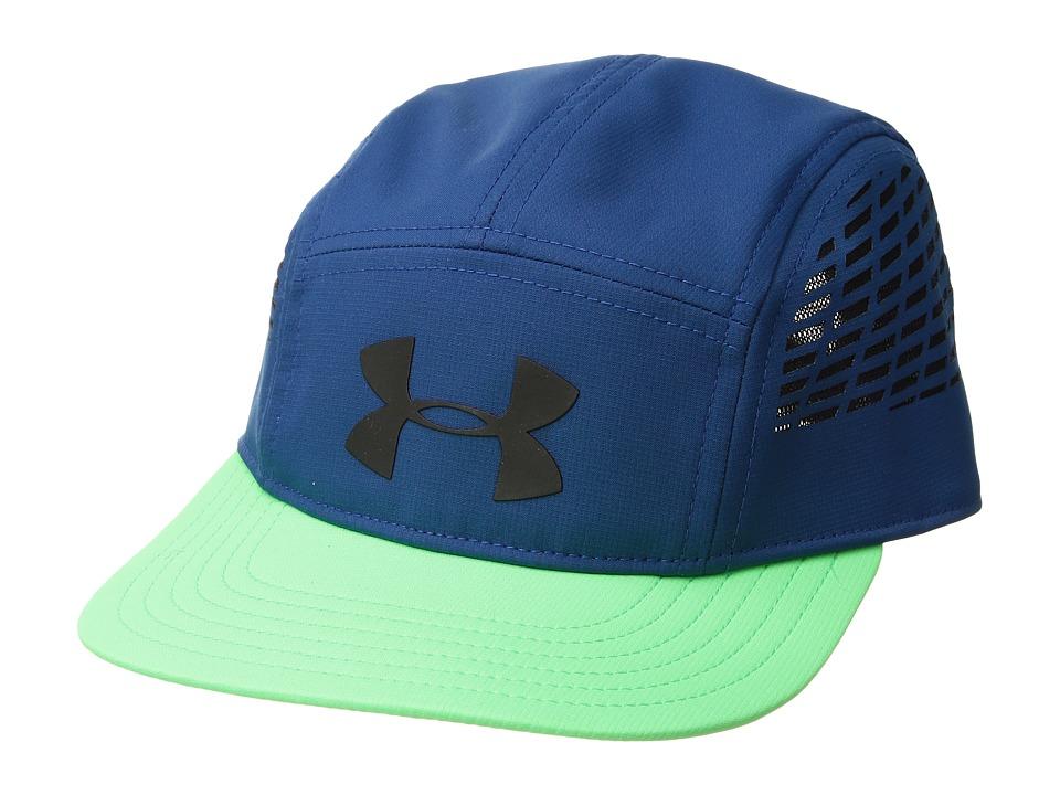 Under Armour - X-Level Duck Bill Cap (Little Kids/Big Kids) (Moroccan Blue/Arena Green/Black) Baseball Caps