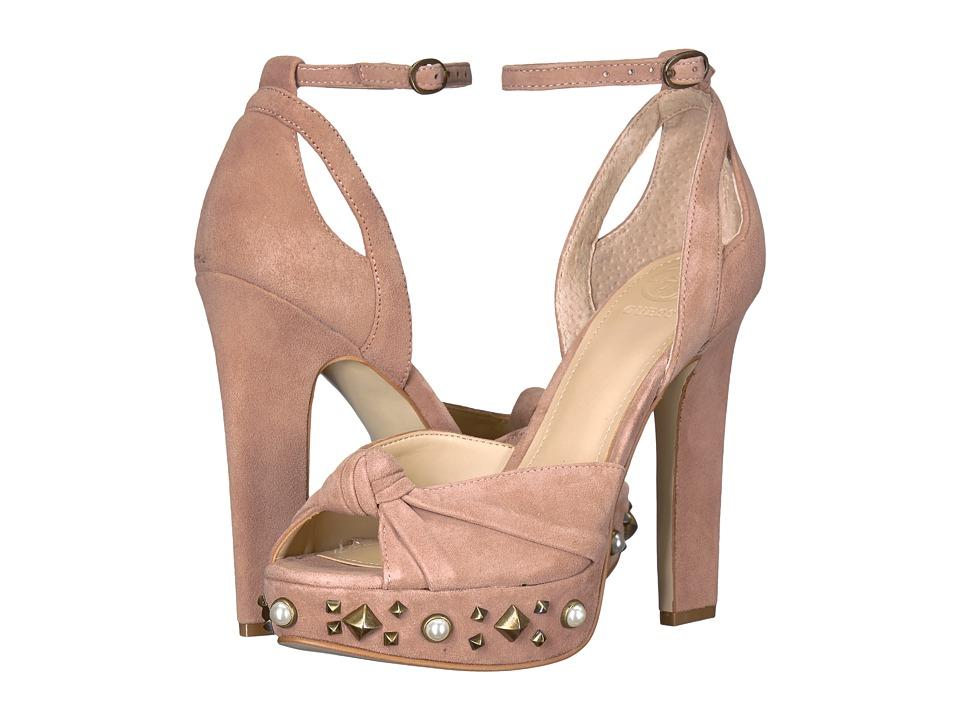 GUESS Kenzie (Blush Suede) High Heels