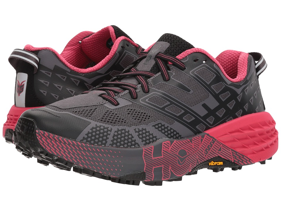 Hoka One One Speedgoat 2 (Black/Azalea) Women's Running Shoes