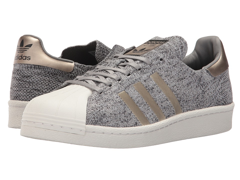 adidas Originals - Superstar PrimeKnit (Solid Grey/Medium Solid Grey/Solid Grey/White) Mens Shoes