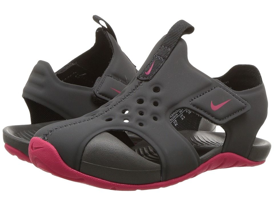 Nike Kids Sunray Protect 2 (Infant/Toddler) (Anthracite/Rush Pink) Girls Shoes
