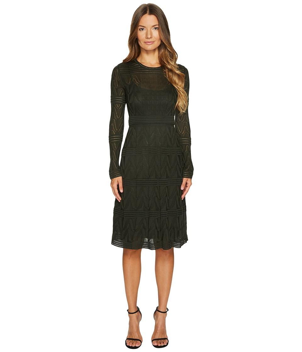 M Missoni - Solid Knit Long Sleeve Dress