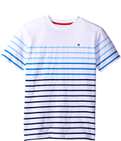Tommy Hilfiger Kids - Printed Stripe Tee (Toddler/Little Kids)