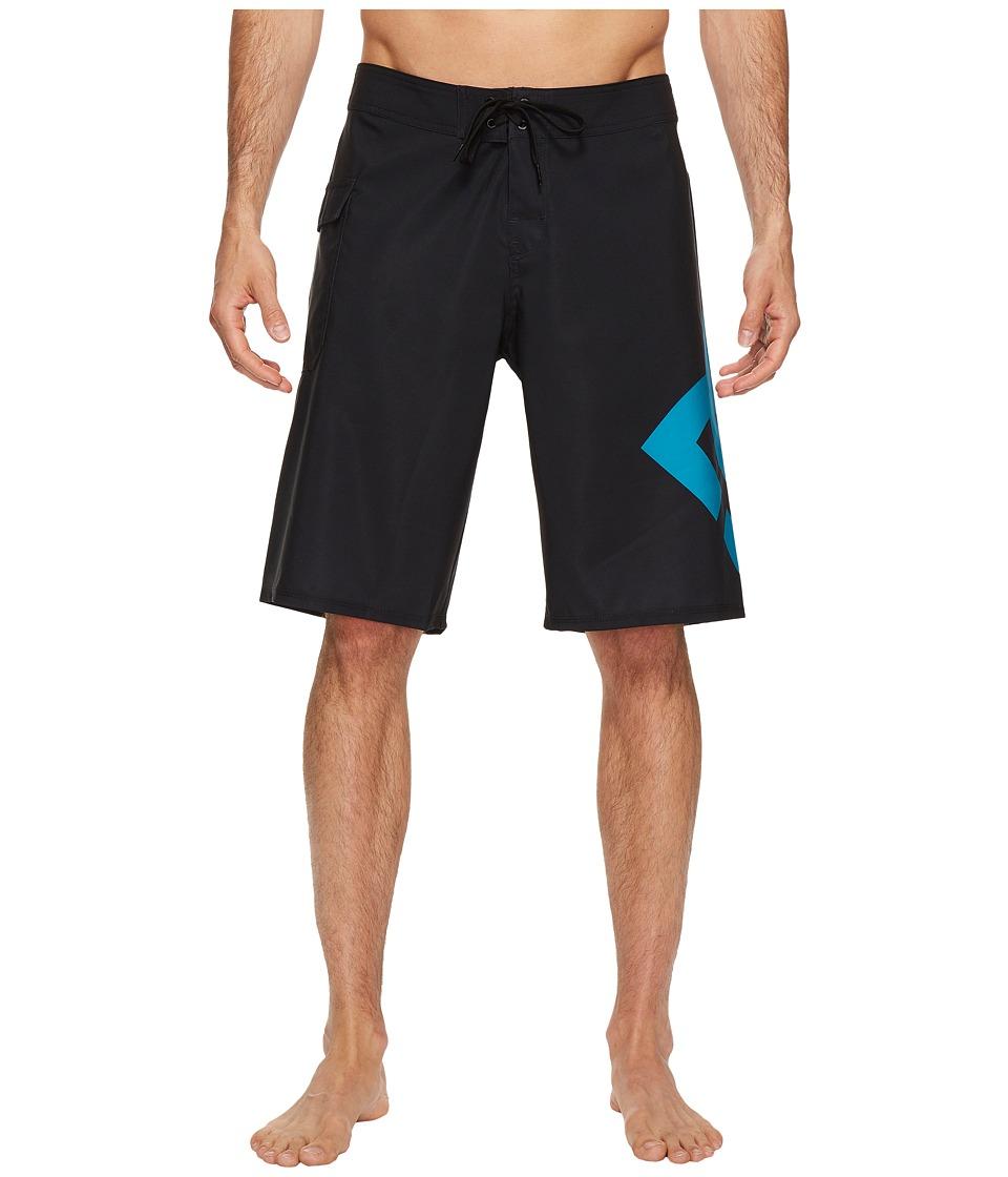 DC Lanai 22 Boardshorts (Black/Algiers Blue) Men