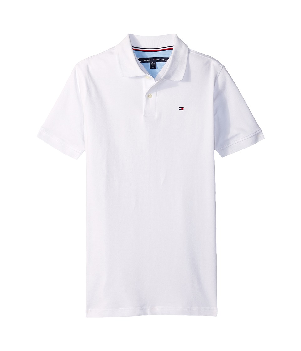 Tommy Hilfiger Kids - Stretch Ivy Polo (Big Kids) (White) Boys Clothing