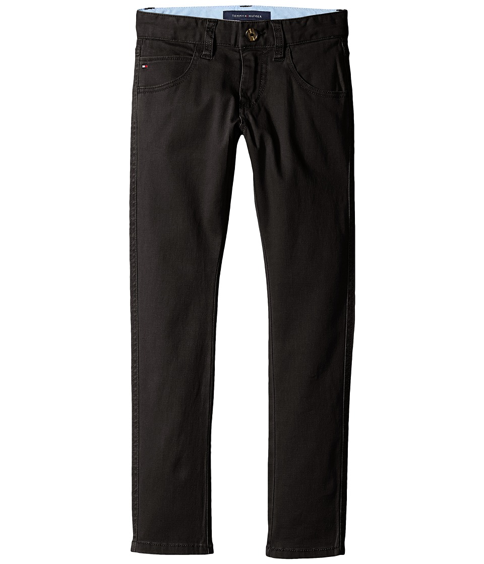 Tommy Hilfiger Kids - Five-Pocket Trent Pants (Big Kids) (Tommy Black) Boys Casual Pants