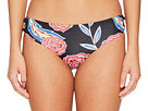 Roxy Softly Love Print Reversible 70's Lace-Up Bikini Bottom