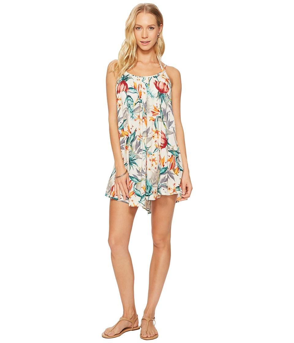 Roxy Windy Fly Away Print Dress Cover-Up (Marshmallow Pampa Flower) Women