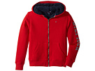 Tommy Hilfiger Kids Sherpa Lining Full Zip Hoodie (Big Kids)