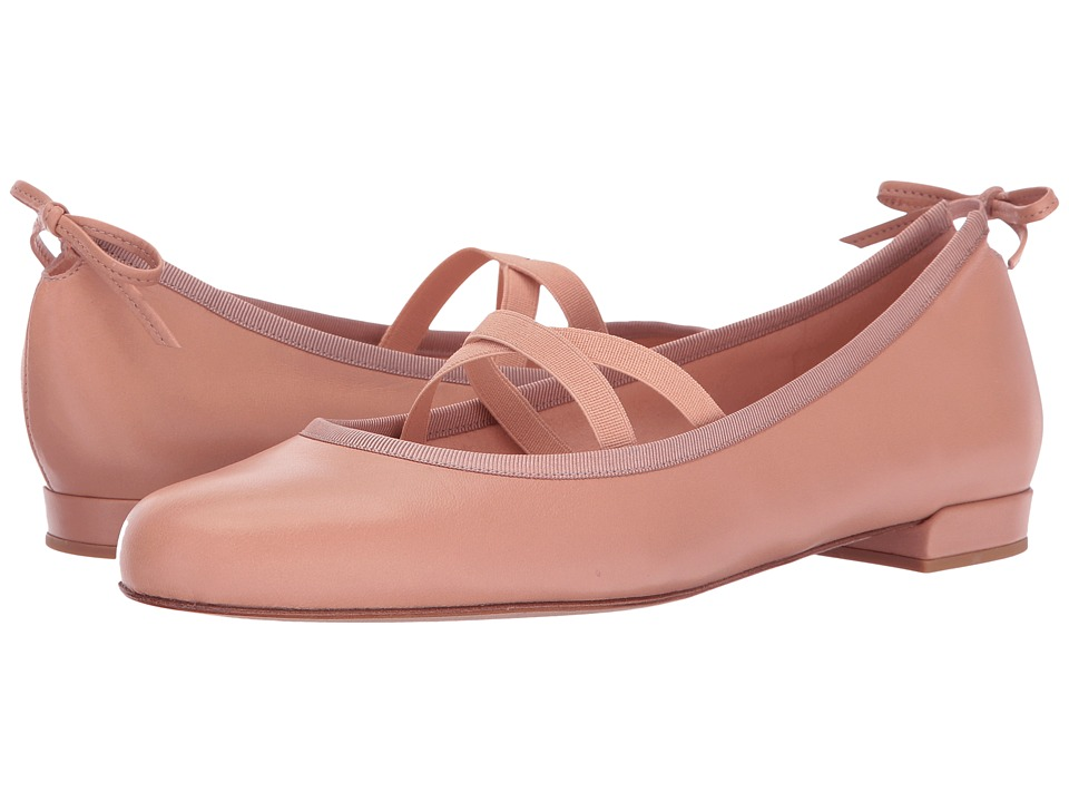 Stuart Weitzman - Bolshoi (Nude Nappa) Womens Dress Flat Shoes