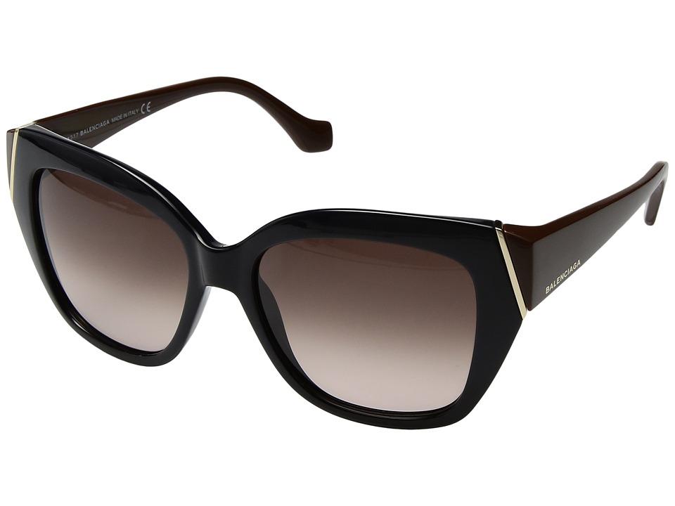 Balenciaga - BA0099 (Navy Blue/Pale Gold/Gradient Brown) Fashion Sunglasses