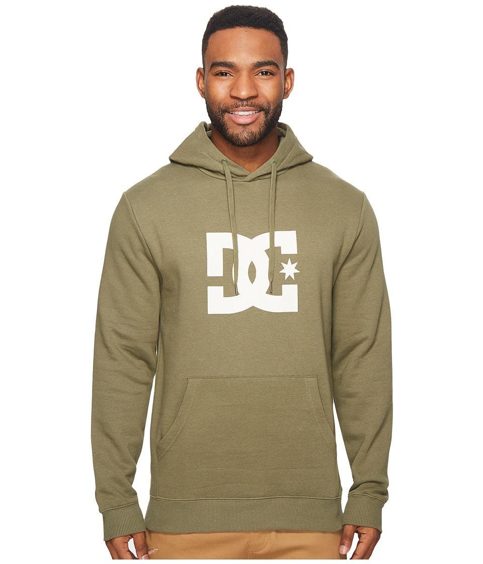 DC Star Pullover Hoodie (Vintage Green) Men's Sweatshirt