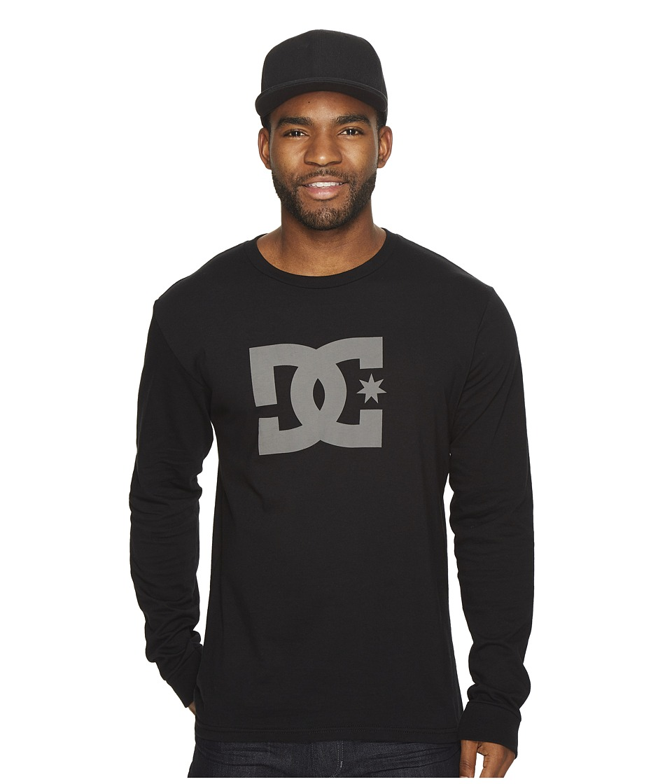 DC - Star Long Sleeve Tee (Black) Mens T Shirt