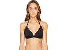 Kate Spade New York - Core Solids #79 Scalloped Triangle Bikini Top w/ Removable Soft Cups