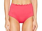Kate Spade New York - Core Solids #79 Scalloped High-Waist Bikini Bottom