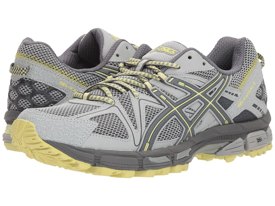 ASICS - Gel-Kahana(r) 8 (Mid Grey/Carbon/Limelight) Womens Running Shoes