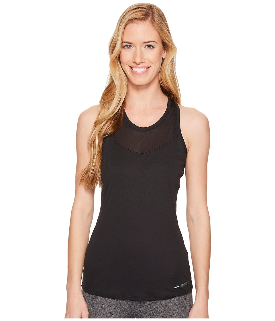 Brooks - Stealth Tank Top (Black) Womens Workout