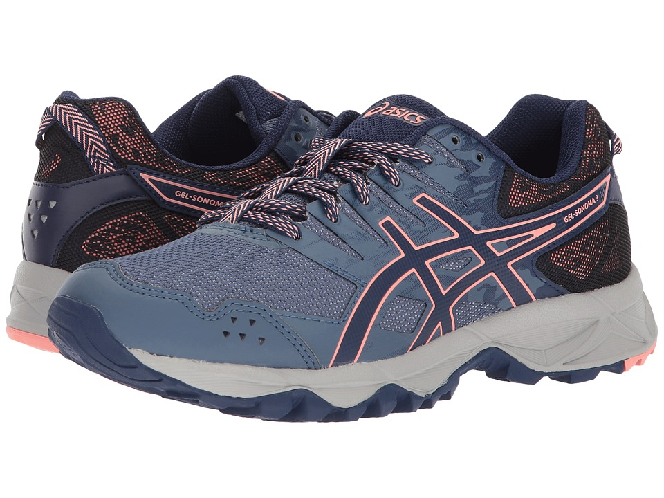 ASICS GEL-Sonoma 3 (Smoke Blue/Indigo Blue/Begonia Pink) Women's Running Shoes