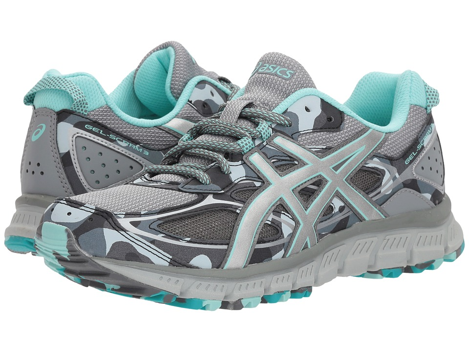 ASICS - Gel-Scram(r) 3 (Stone Grey/Silver/Aruba Blue) Womens Running Shoes