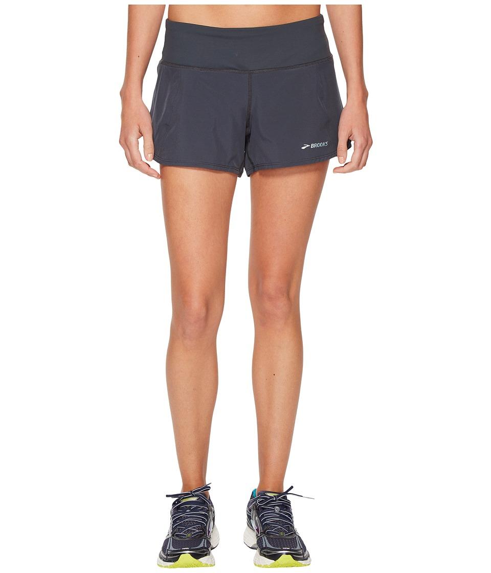 Brooks - Chaser 3 Shorts (Asphalt) Womens Shorts