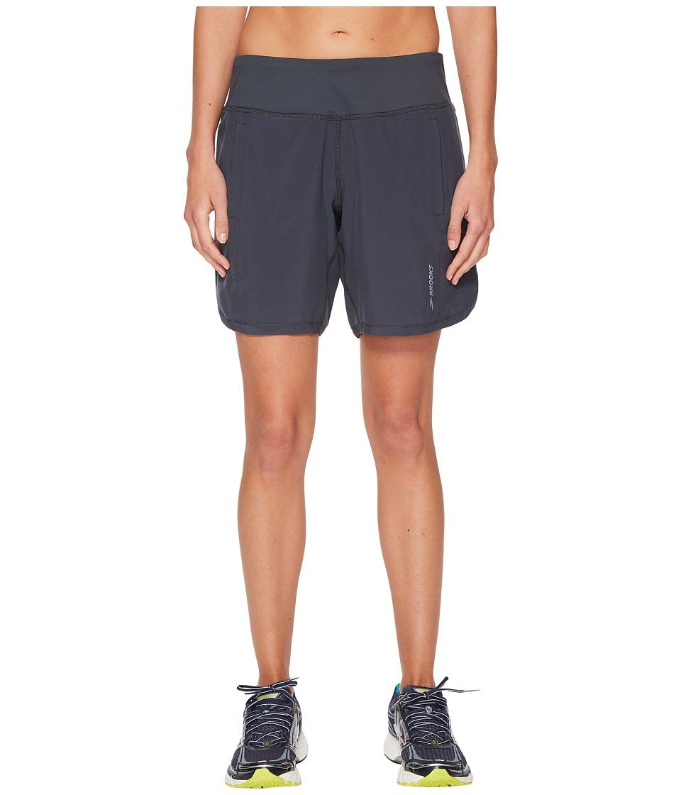 Brooks - Chaser 7 Shorts (Asphalt) Womens Shorts