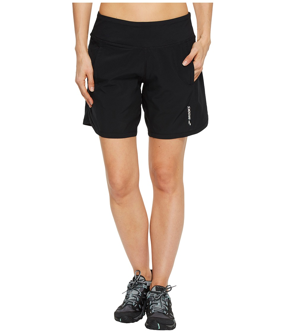 Brooks - Chaser 7 Shorts (Black 1) Womens Shorts