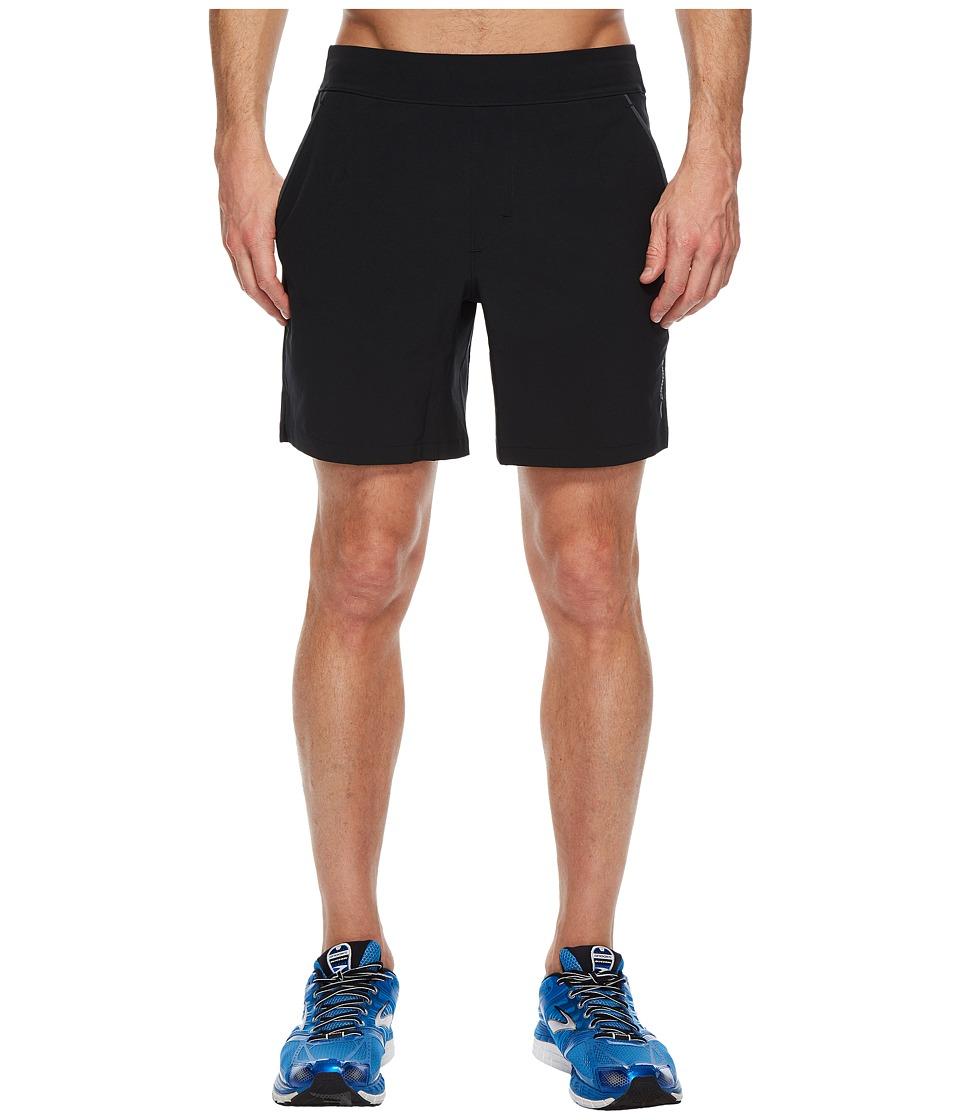 Brooks - Fremont 7 Linerless Shorts (Black) Mens Workout