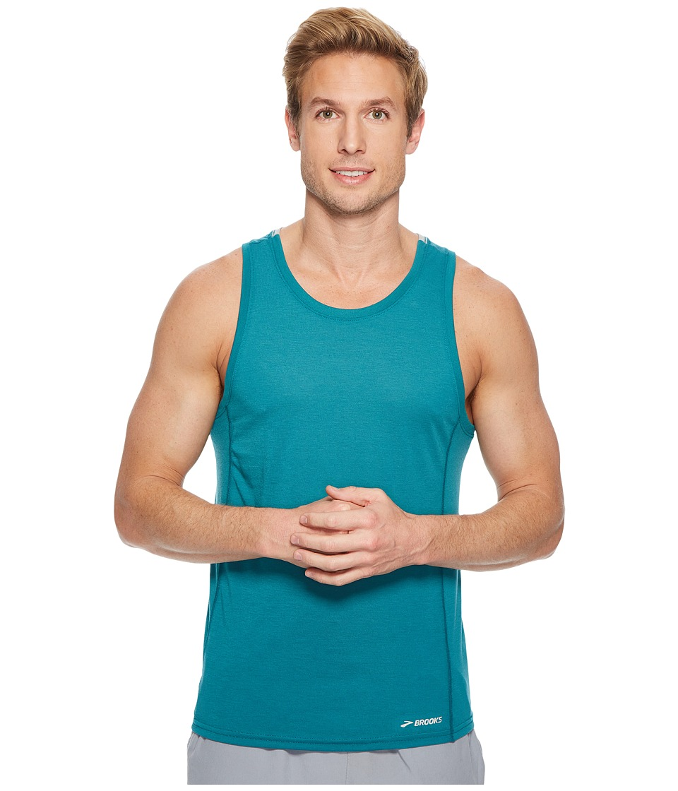 Brooks Distance Tank Top (Lake/Stone) Men