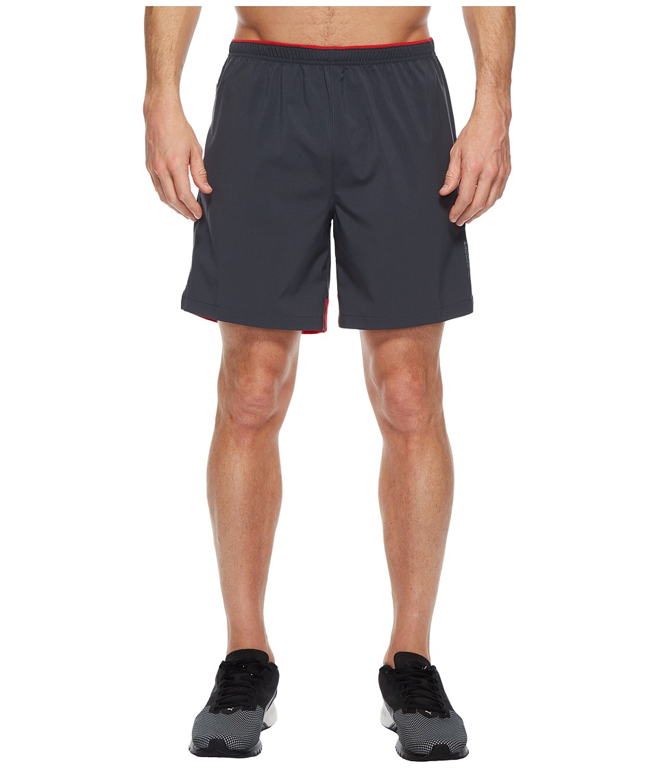 Brooks - Go-To 7 Shorts (Asphalt/Blaze) Mens Shorts