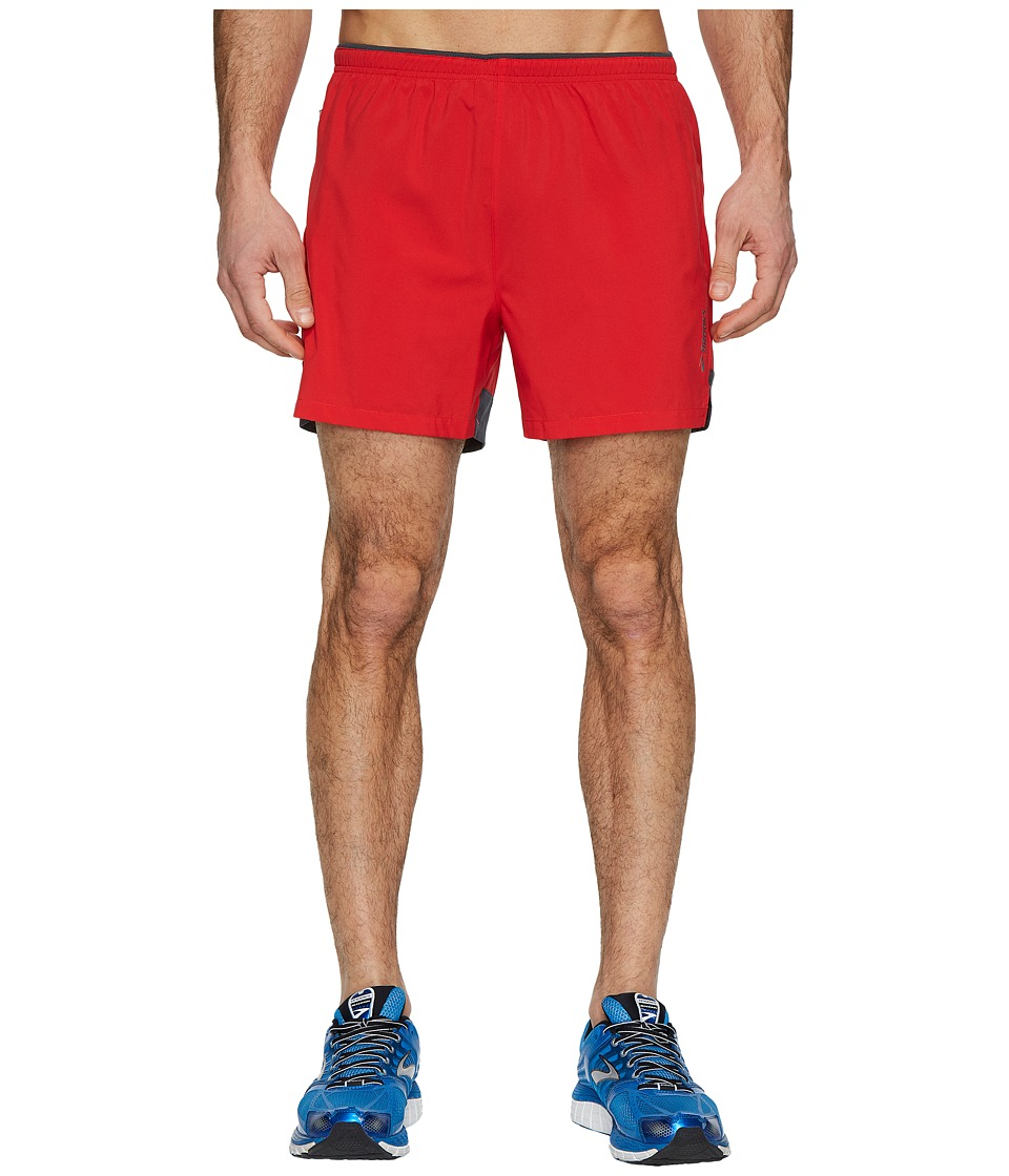 Brooks - Go-To 5 Shorts (Blaze/Asphalt) Mens Shorts
