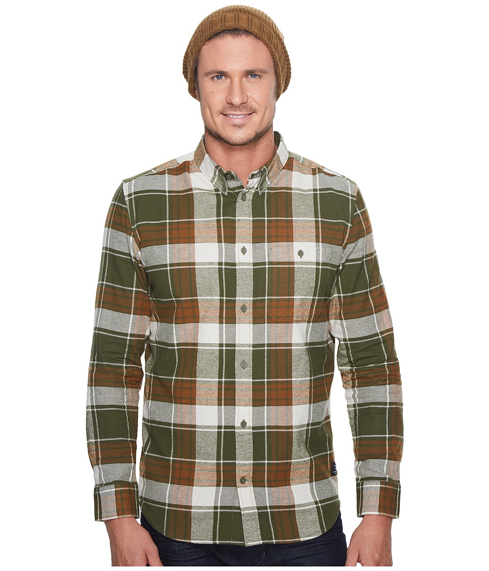 DC South Ferry Long Sleeve Shirt (Vintage Green) Men's Cl...