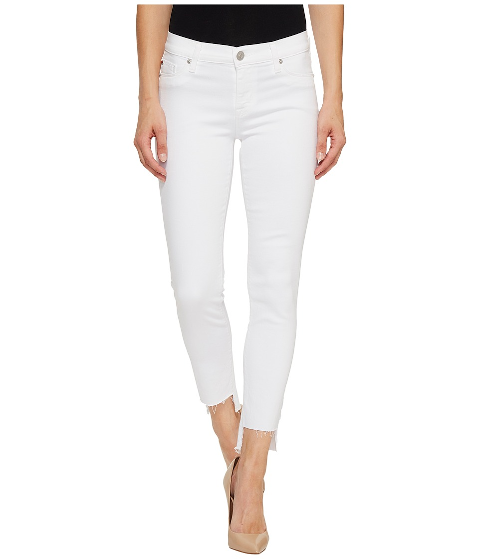 Hudson Colette Mid-Rise Skinny with Raw Step Hem in White (White) Women