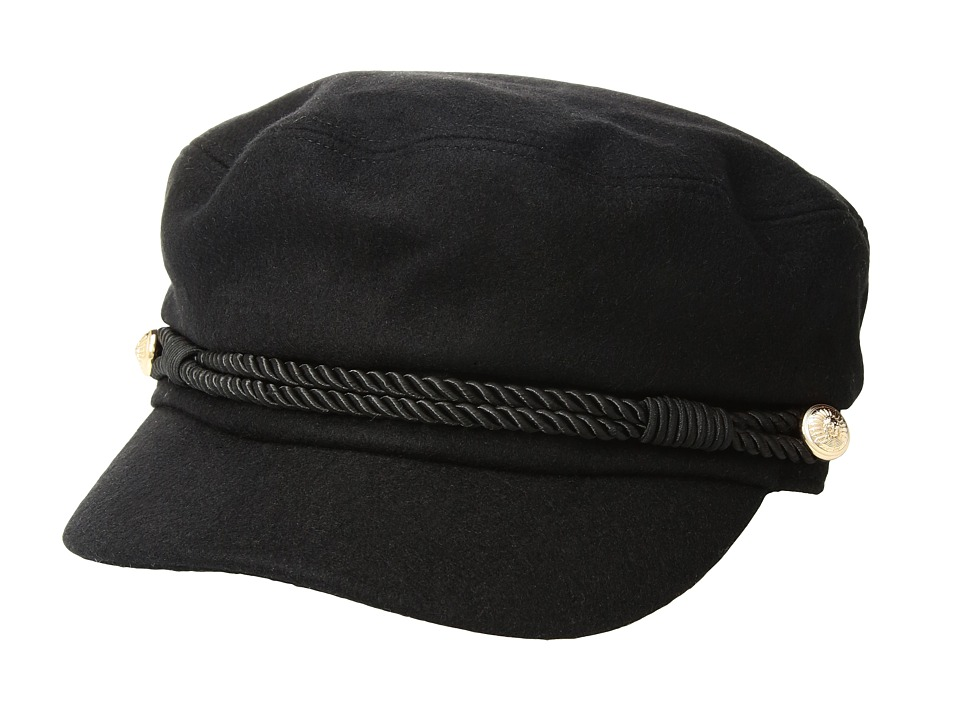 Hat Attack - Emmy Cadet Cap w/ Interchangeable Rope Band (Black) Caps