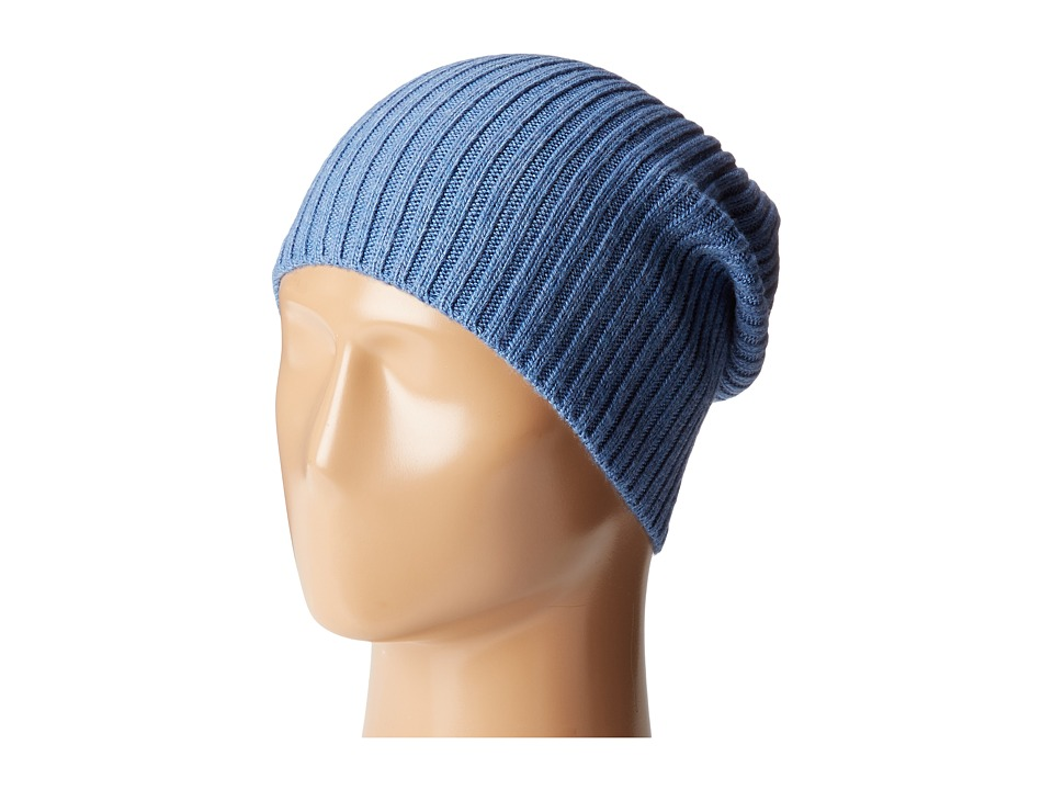 Hat Attack - Lightweight Rib Watch Cap (Denim) Caps