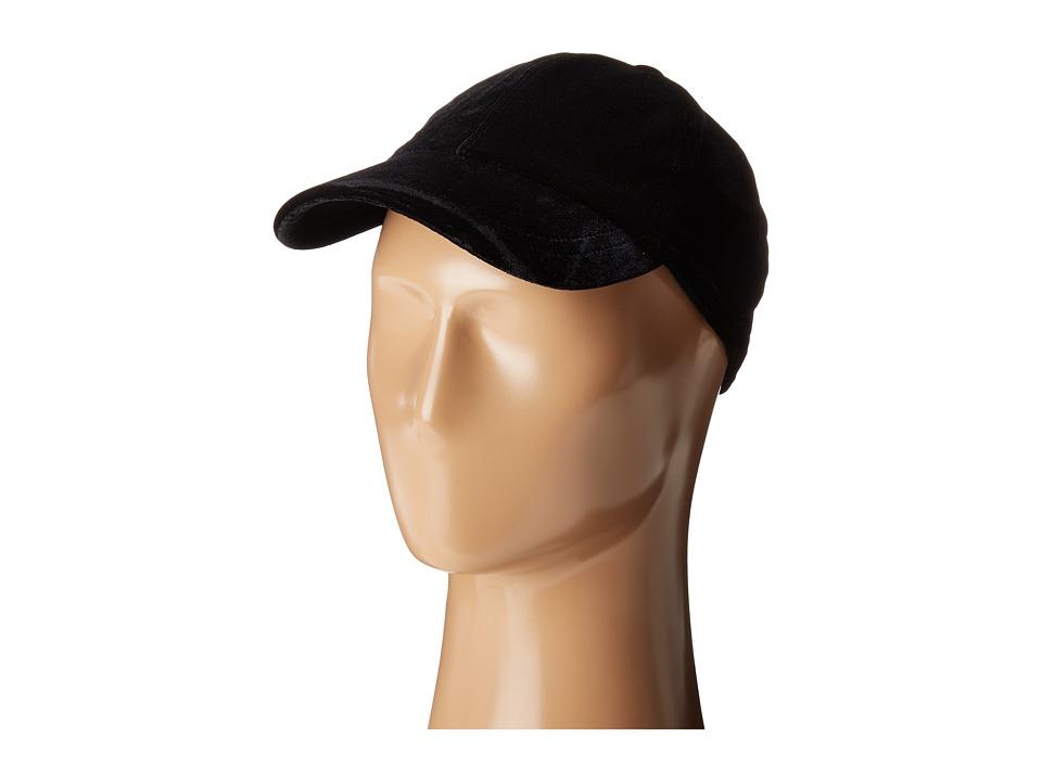 Hat Attack - Velvet Baseball Cap (Black) Caps