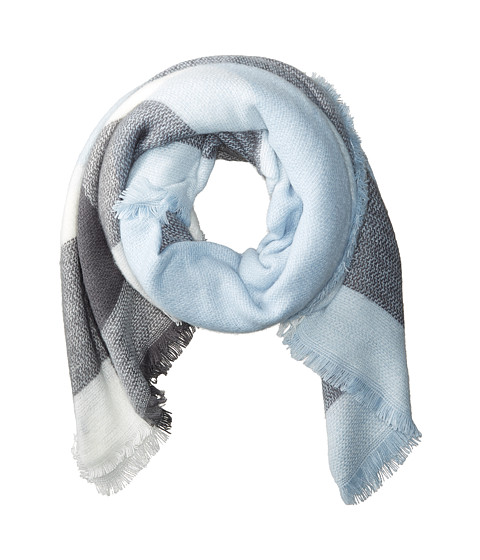 Hat Attack Pastel Blanket Scarf - Grey/Light Blue