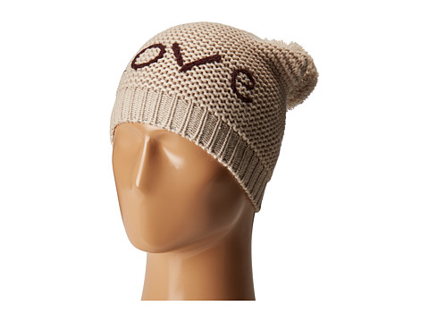 Hat Attack Motto Beanie with Faux Fur Pom - Love/Oat