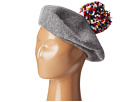 Hat Attack Wool Beret with Multi Confetti Pom