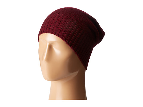 Hat Attack Cashmere Slouchy - Burgundy 1