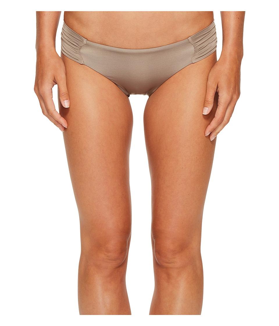 Trina Turk Studio Solids Shirred Side Hipster Bikini Bottom (Taupe) Women