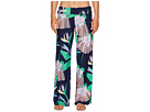 Trina Turk Midnight Paradise Roll Top Wide Leg Pant Cover-Up