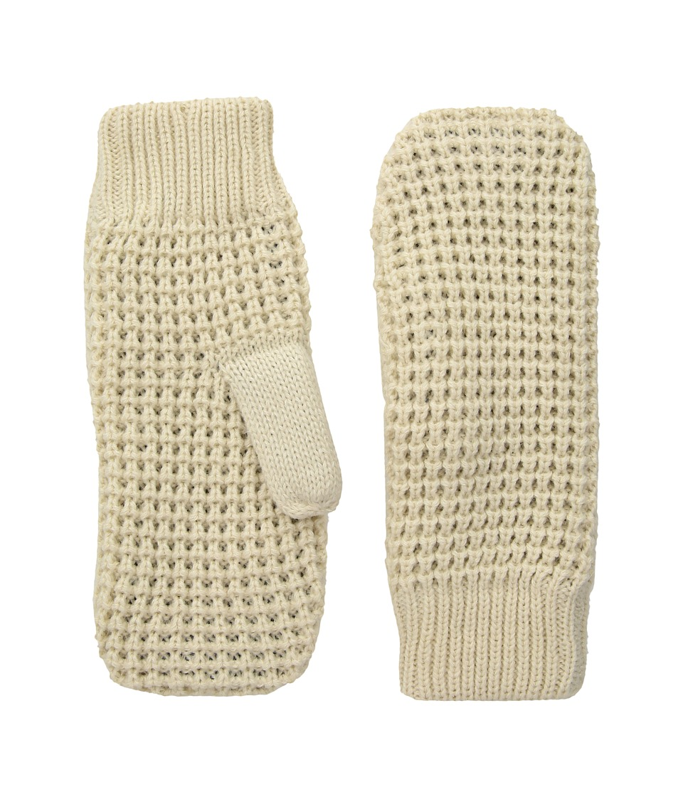 Hat Attack Waffle Knit Plush Mitten (Oat) Extreme Cold Weather Gloves