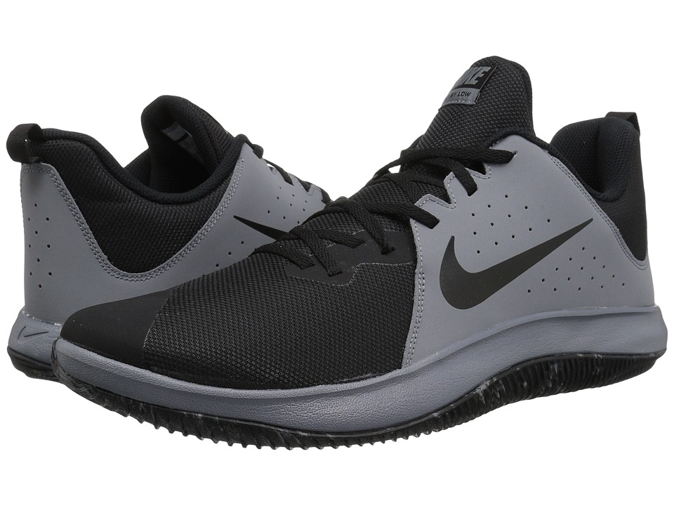 Nike Fly.By Low (Cool Grey/Black/Wolf Grey) Men's Basketb...